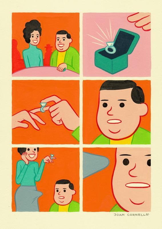 matrimonio joan cornella ilustracion