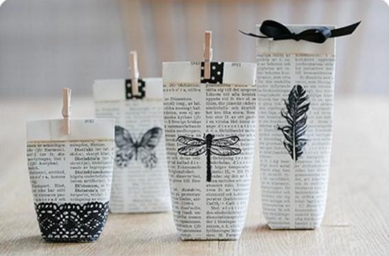 Sencillas y originales envolturas para tus regalos dise o for Adornos navidenos para regalar
