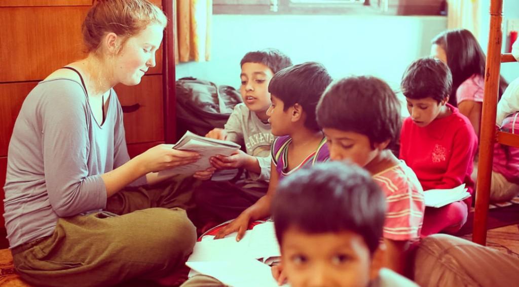 volunteer in nepal childcare