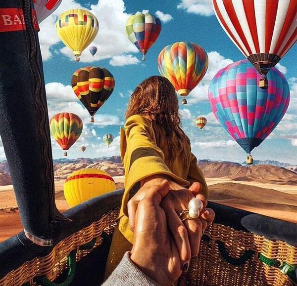 pareja en globo aerostatico aventuras con el amor de tu vida