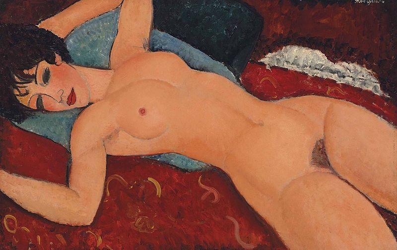 Desnudos después del orgasmo femenino convertidos en arte