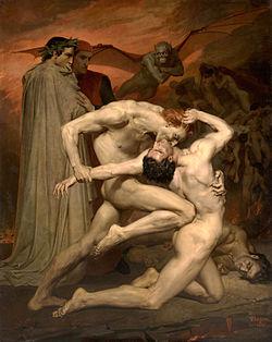 Dante y Virgilio en el infierno William Bouguereau