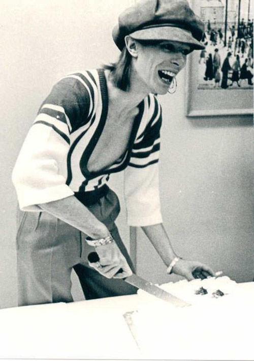 David Bowie pastel de cumpleaños