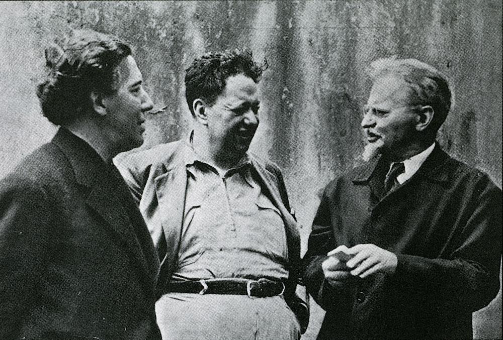 Diego Rivera. Trotsky