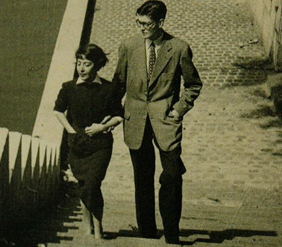 fotos de julio cortazar y Aurora Bernárdez, 1953