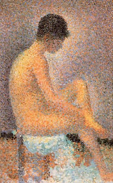 Georges Seurat puntillismo desnudo