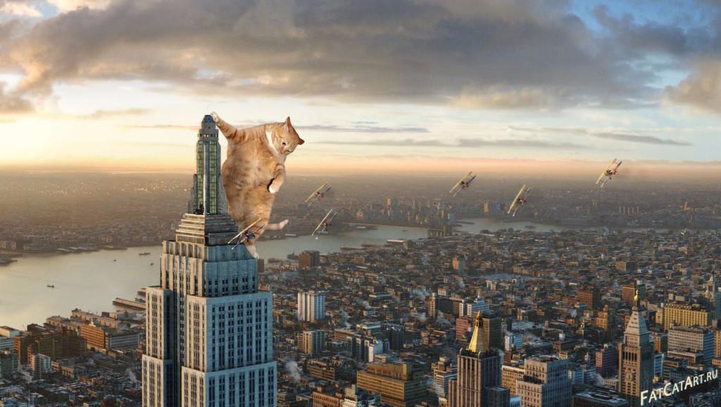 """Concept art for """"Cat Kong"""""""