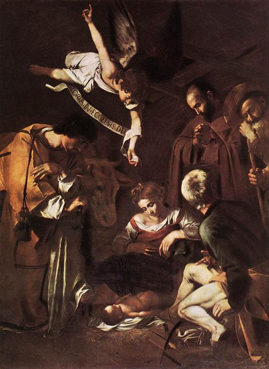 Natividad con San Francisco y San Lorenzo