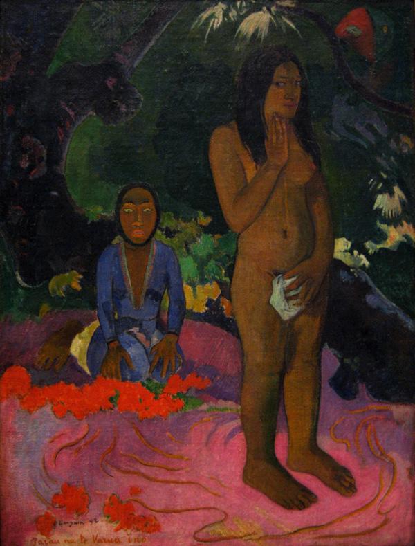 Palabras del demonio. 1892. Paul Gauguin