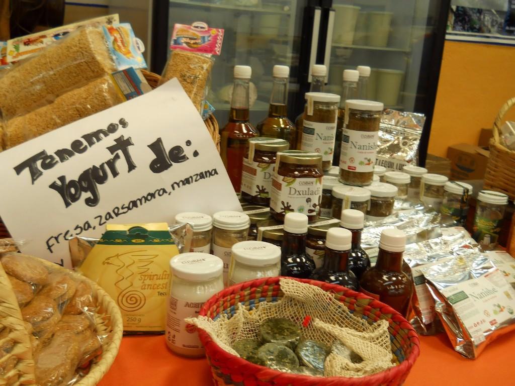 Puesto de productos orgánicos