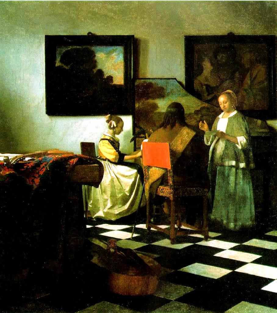 The Concert  Johannes Vermeer