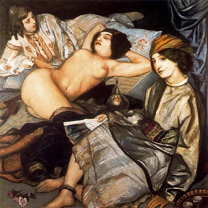 emile bernard the harem