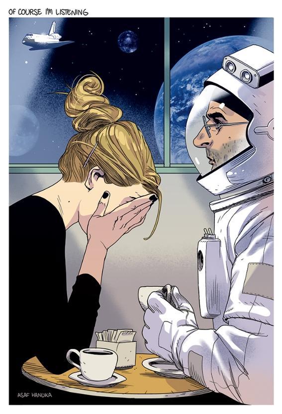 escuchando ilustraciones
