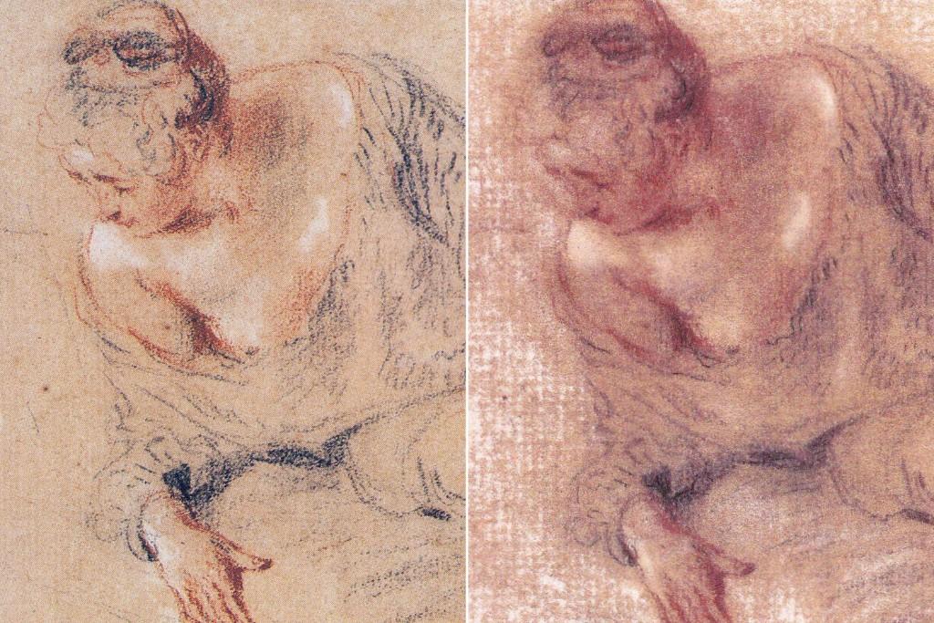 Falsificación de un Watteau