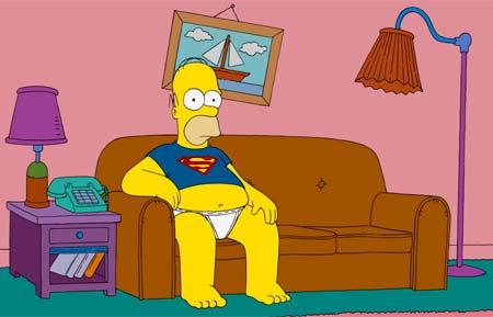 homero simpson superman