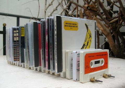portadiscos con cassettes ideas de