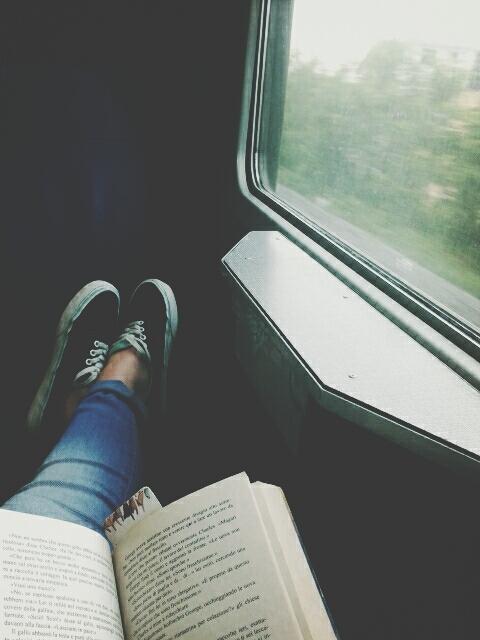 libro en un viaje