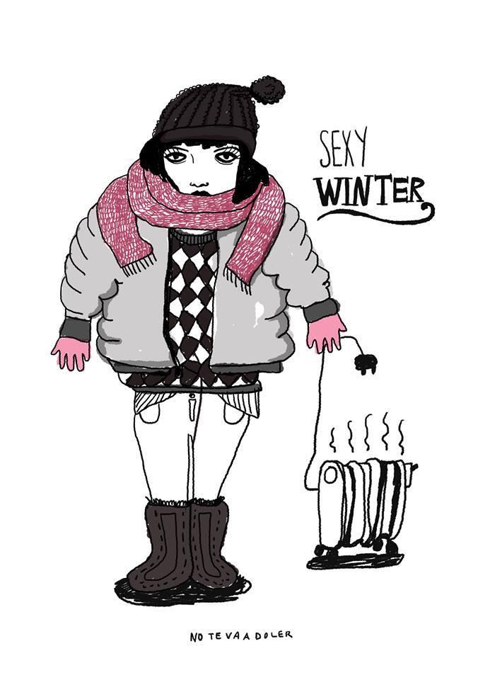 no te va a doler Ilustraciones sexy winter
