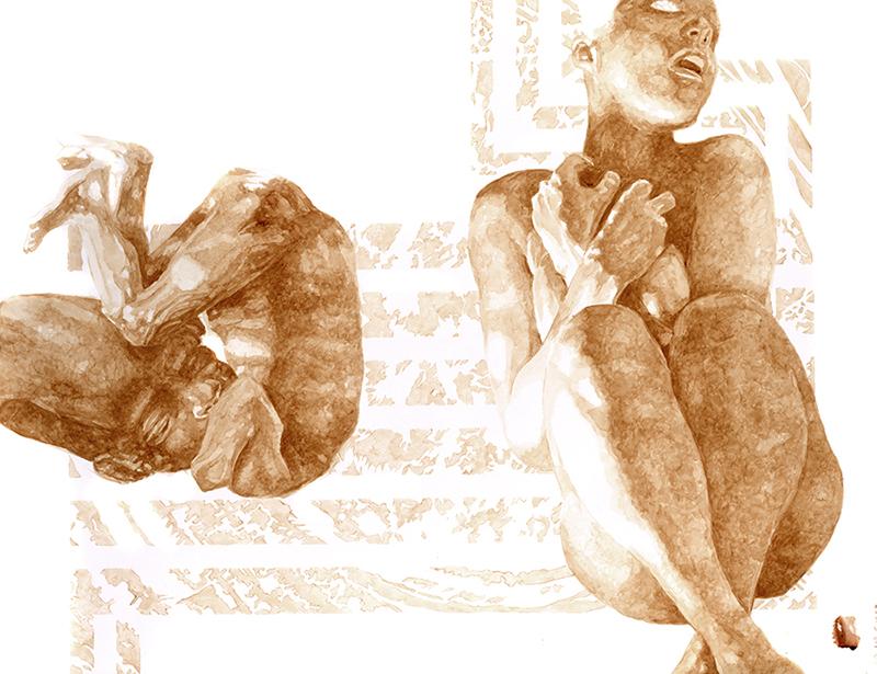 Ilustraciones de Maurice Merleau-Ponty hechas con sangre