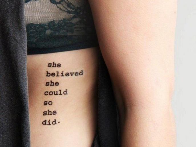 Tatuajes femeninos que puedes llevar en las costillas dise o - Tatuajes de pared ...
