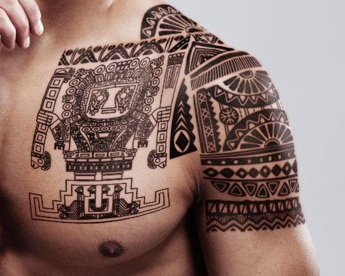 tatuajes de dioses-mayan-shoulder-tattoo