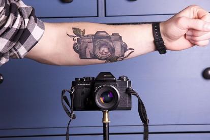 tatuajes de fotografia camara naturaleza