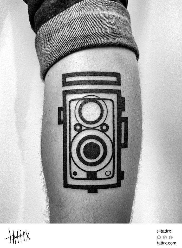 tatuajes de fotografia camara reflect