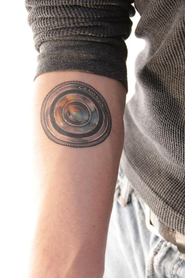 tatuajes de fotografia lente