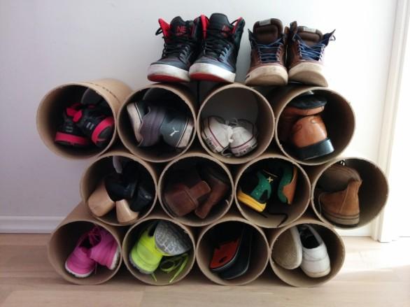tubos para zapatos