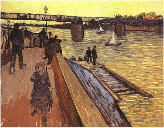 El Puente de Trinquetaille van gogh