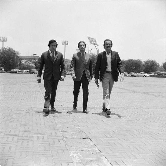 Marco Antonio Montes de Oca, Octavio Paz y Carlos Fuentes en CU artistas mexicanos