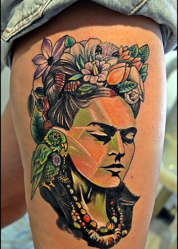 Tatuajes Frida Kahlo-arm