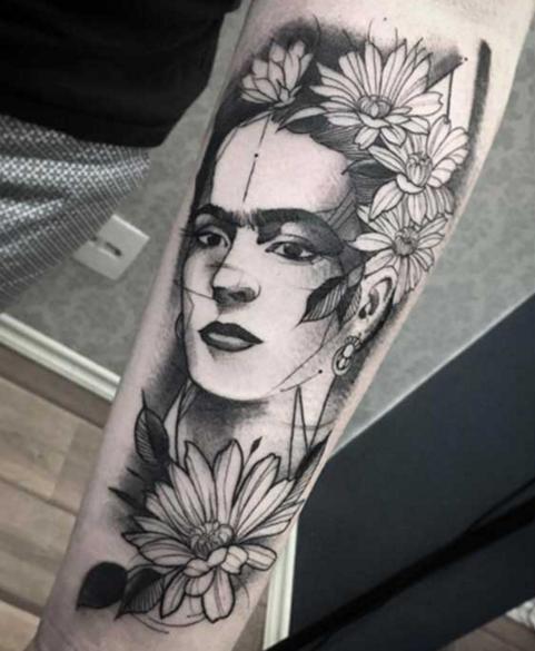 Tatuajes Frida Kahlo-black