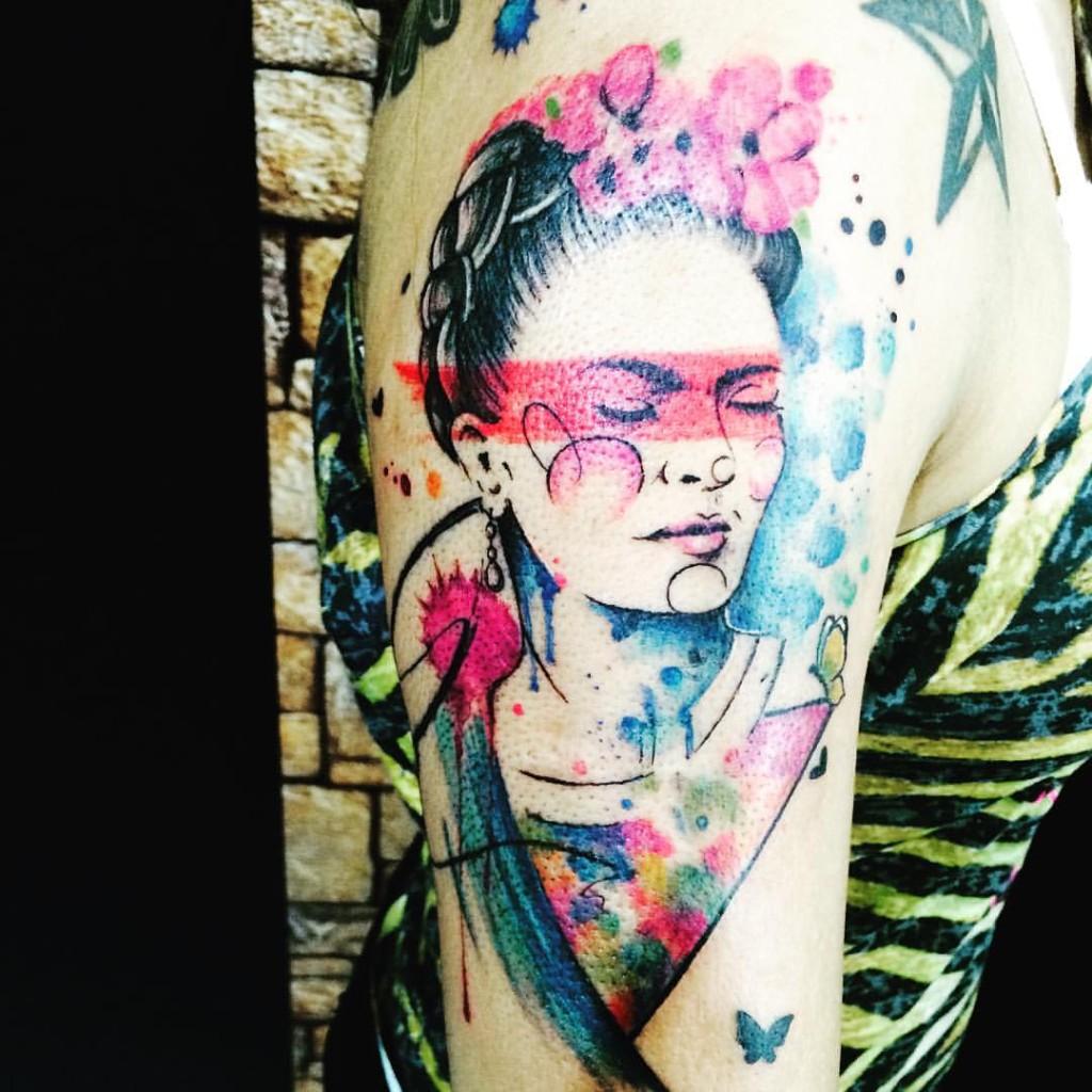 Tatuajes Frida Kahlo colores