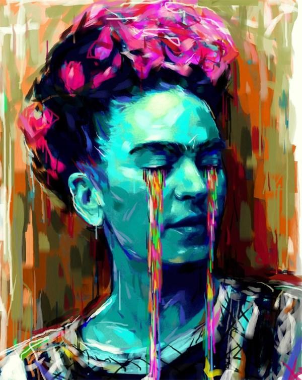 Tatuajes Frida Kahlo llorando