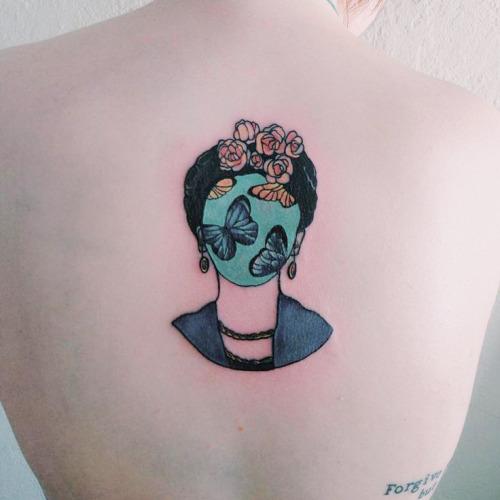 Tatuajes Frida Kahlo mariposas