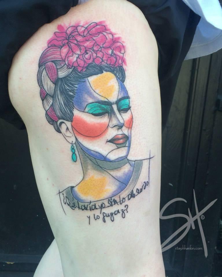 Tatuajes Frida Kahlo razo