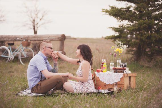 bosque picnic amor