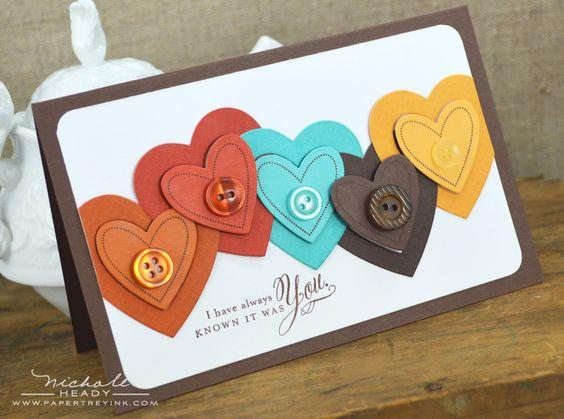 carta corazones y boton