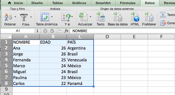 datos tablas