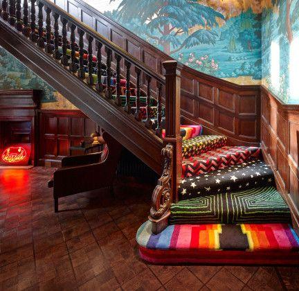 escaleras alfombras
