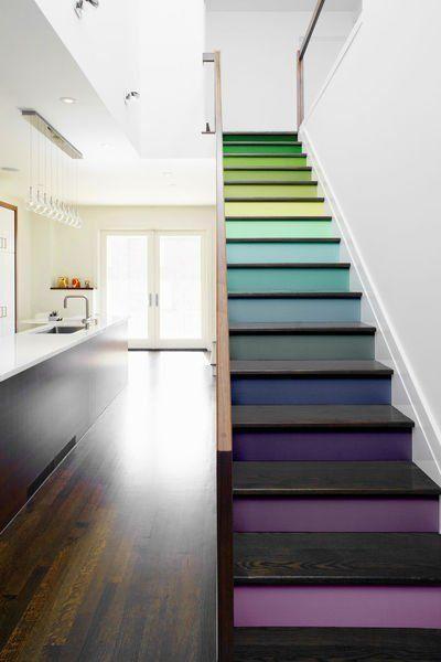 escaleras de colores decorar escaleras - Fotos De Escaleras