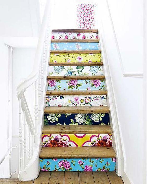 escaleras flores decorar escaleras
