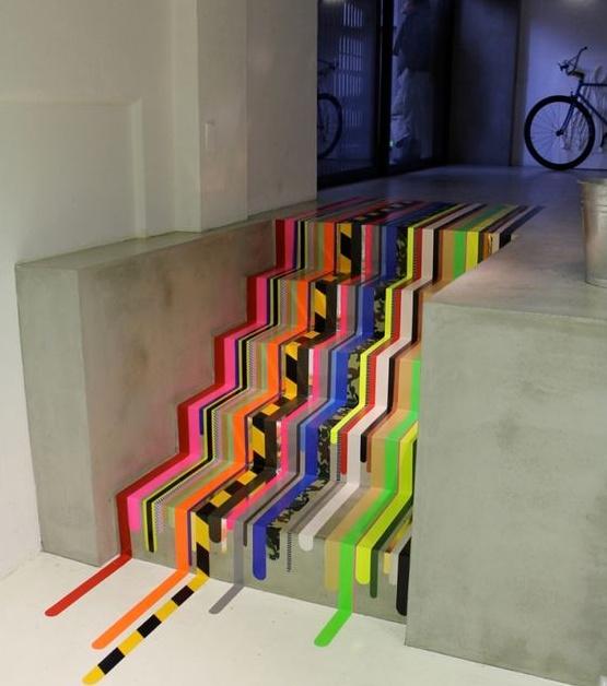 escaleras lineas decorar escaleras