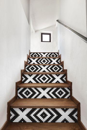 escaleras roombos decorar escaleras
