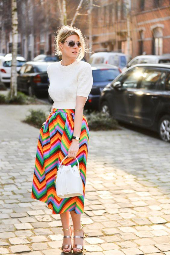 falda arcoiris
