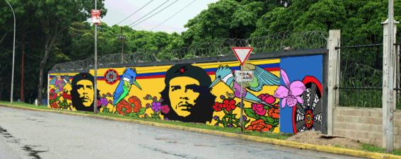 frases de Che Guevara-mural