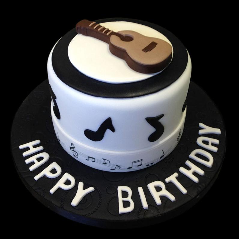 guitarra pasteles de música