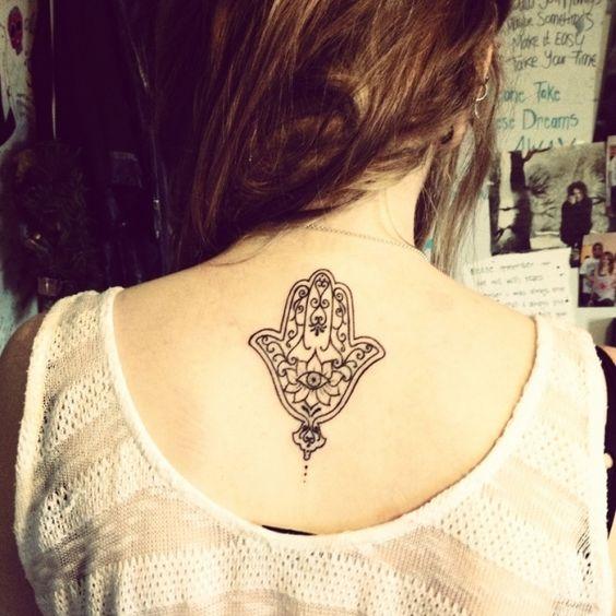 Tatuajes hindús Hamsa