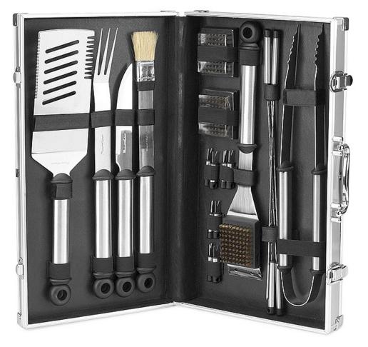herramientas barbecue hombres con estilo